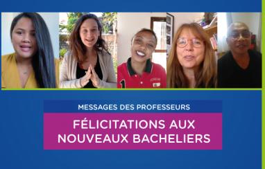 [Bacheliers Promo 2020] Les félicitations des profs