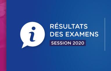 Récapitulatif des résultats des examens 2020