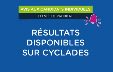 [Candidats individuels] Résultats des épreuves anticipées disponibles