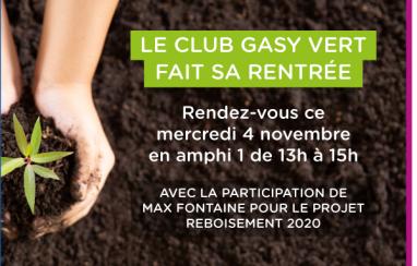Redémarrage du club Gasy Vert : découvrez les projets !
