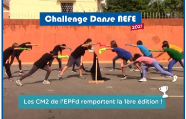 Les CM2 de l'EPFd remportent le Challenge Danse AEFE 2021