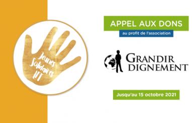 #JSLFT   Appel aux dons pour l'association Grandir Dignement